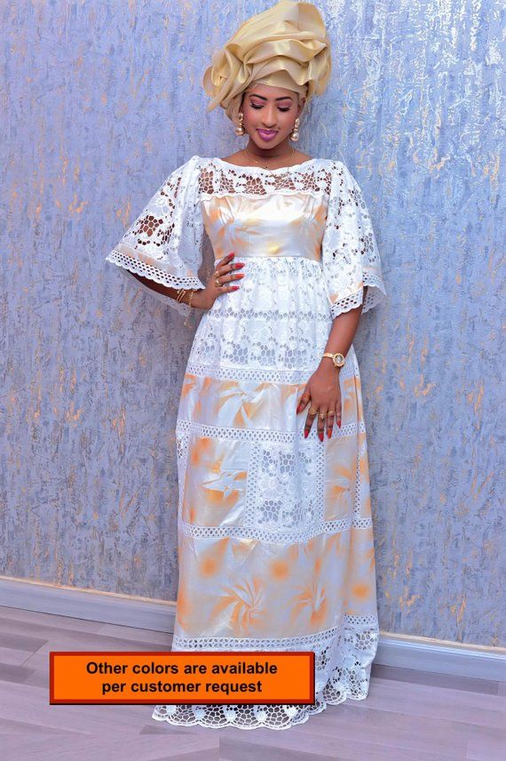 Mode africaine vêtements haut de gamme Getzner magnum or africaine robe africaine africaine robe/Bazin boubou, grande taille robe/Plus size clothing #afrikanischemode