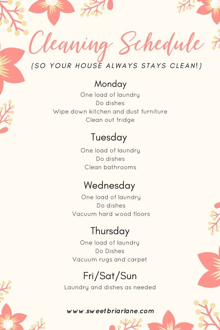 Pin By Emese Parti On Organization Easy Cleaning Schedule Cleaning Schedule Printable Cleaning Schedule