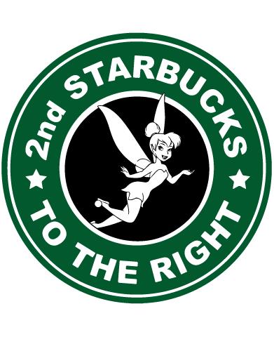 Starbucks Inspired Logo Tinkerbell 2nd Starbucks To The Right Coffee Logo Disney Starbucks Starbucks Logo