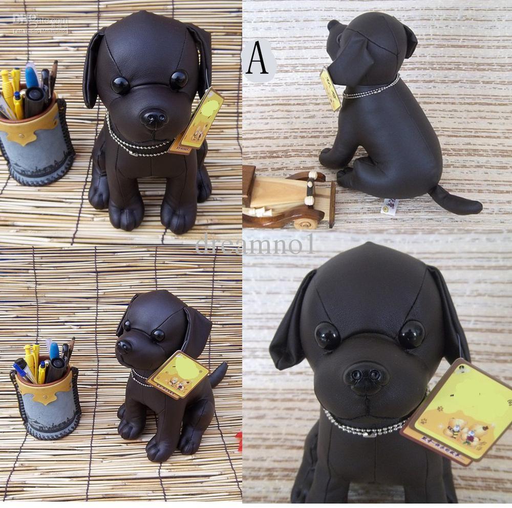 Wholesale Dog Toy Buy Plush Pu Leather Black Dog Toy Doll