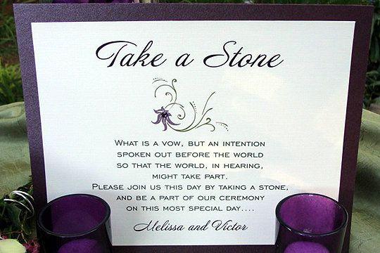 Wedding Guest Book Stones