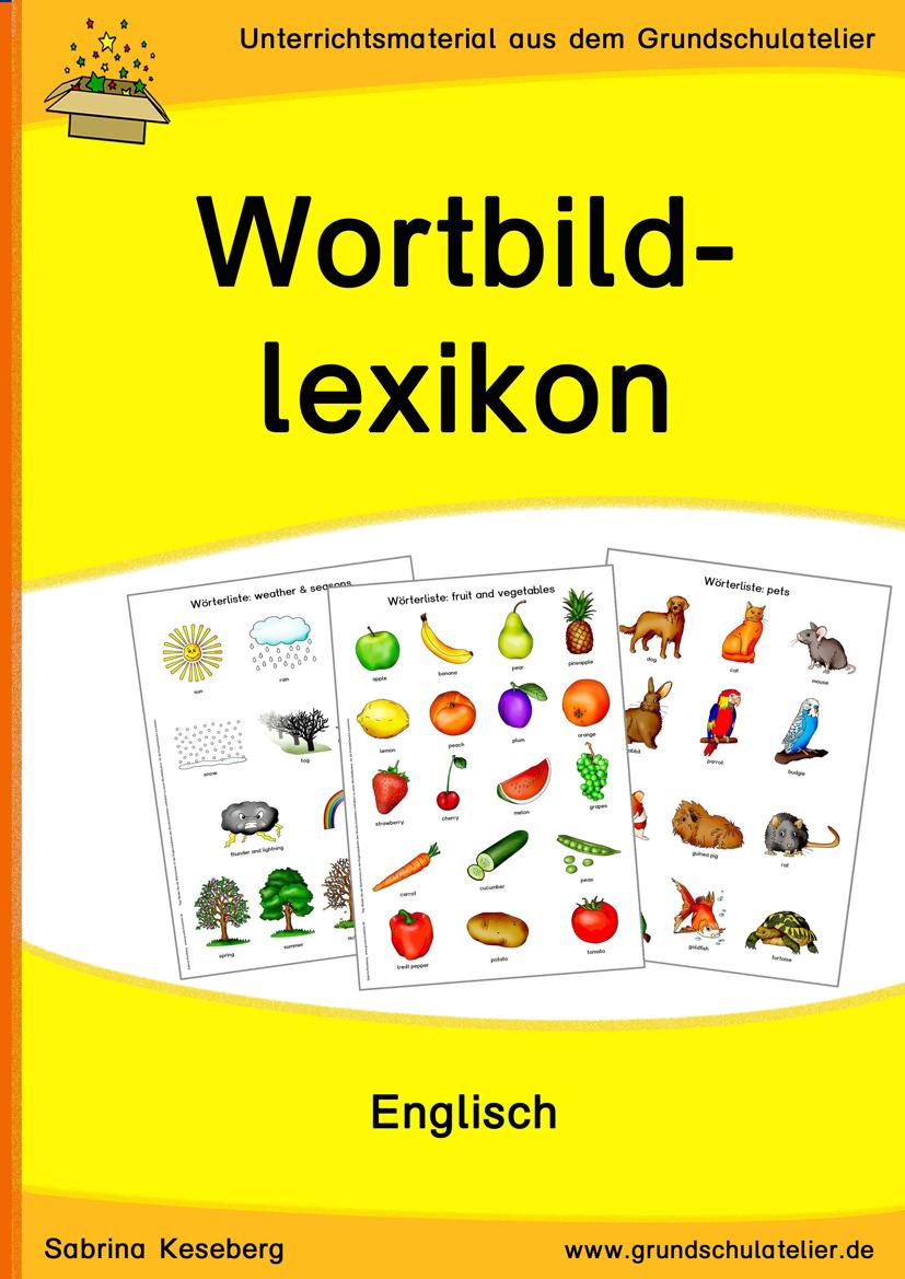 Deckblatt für ein WortBildLexikon (zusammenstellbar aus