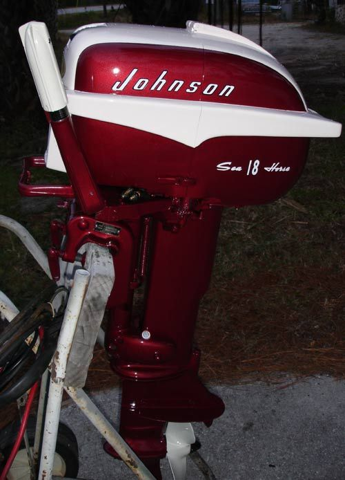 restored johnson 18 hp outboard boat motor for sale boat