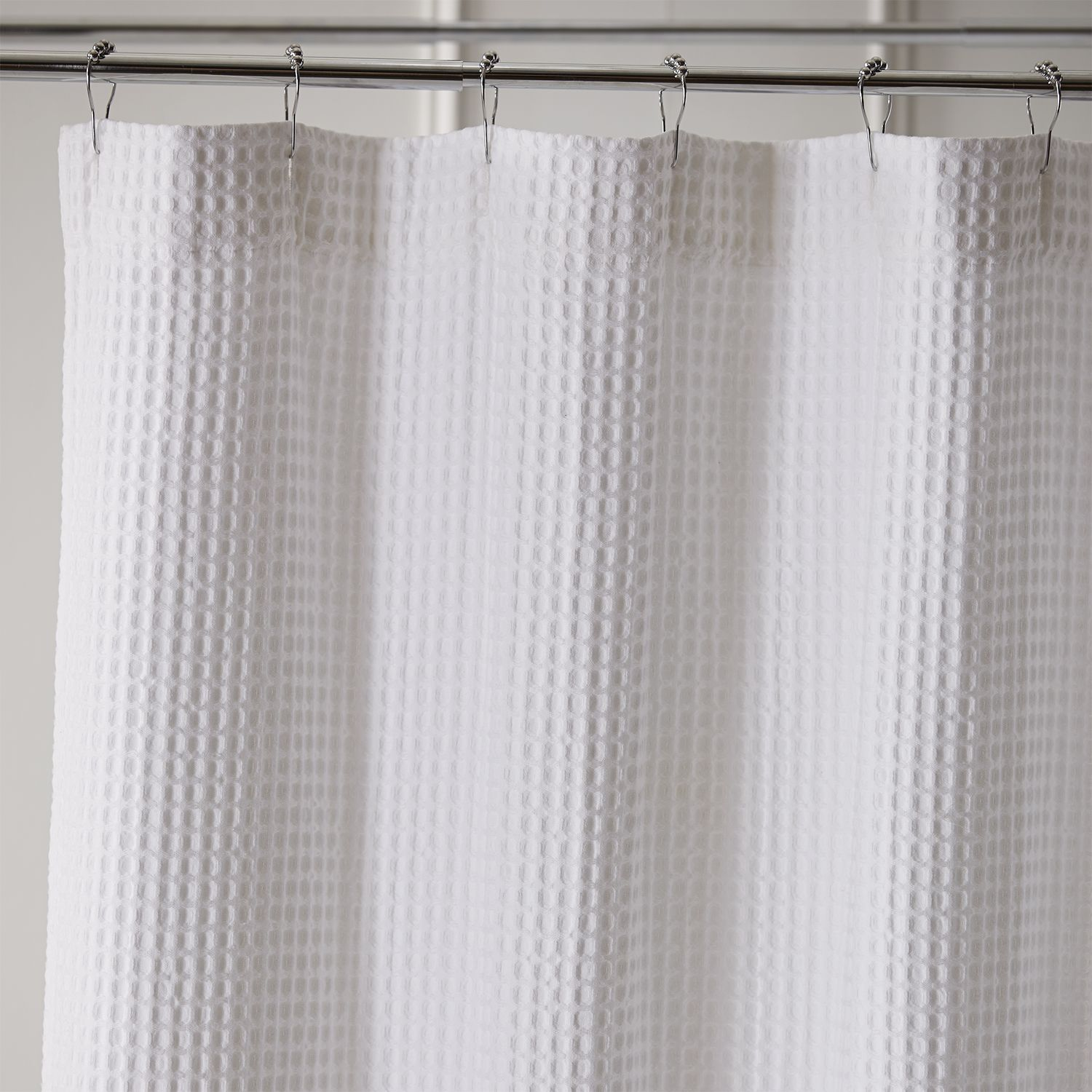 Waffle White Shower Curtain White Shower Bathroom Shower