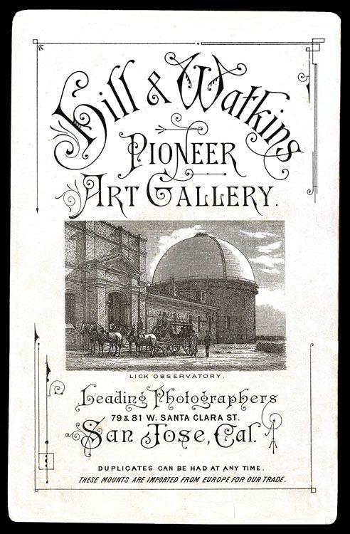 Hill & Watkins, leading photographers, San Jose, Cal ...