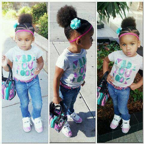 Aww..swag baby girl. Cute and beautiful black kids! love