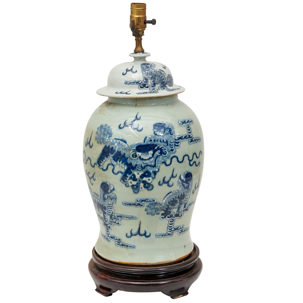 Large Chinese Ginger Jar Lamp From A Unique Collection Of