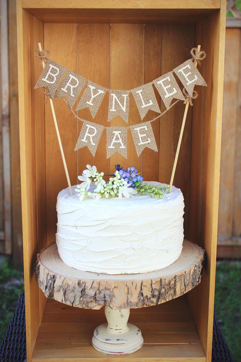 Baby shower cake topper name cake topper baby name cake topper