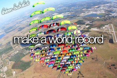Make a world record.