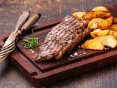 Photo of Simple Scotch Fillet with Oven-Baked Steak Fries-Simple Scot…