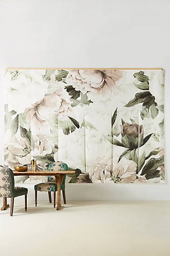 Blush Bouquet Mural Modern floral wallpaper, Wall decor