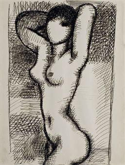 MARCEL GROMAIRE (1892-1971) NU (ET UNE AUTRE OEUVRE)