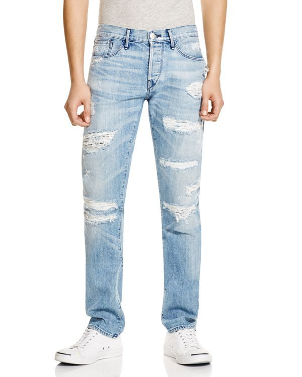 b5e0bd17 3x1 Slim Fit Jeans in Sky Blue | Products | Jeans, Ripped jeans men ...