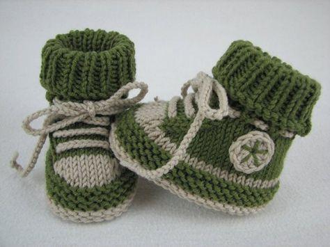 Baby-Schuhe stricken - DIY-Baby-Turnschuhe | Babyschuhe ...