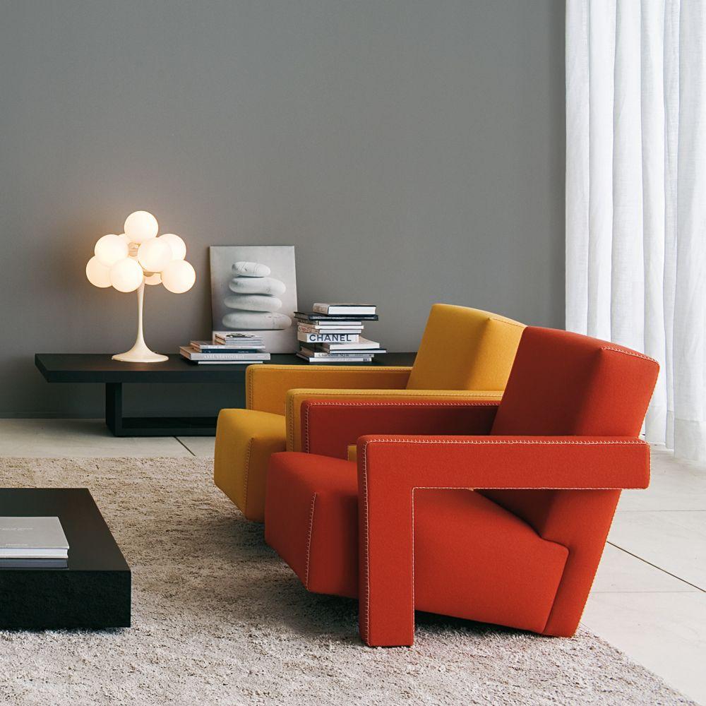 Utrecht Cassina Rietveld Modern Armchair Design Armchair Design Italian Office Furniture