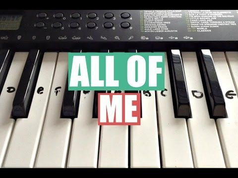 All Of Me John Legend Piano Sheet Music Free John Legend