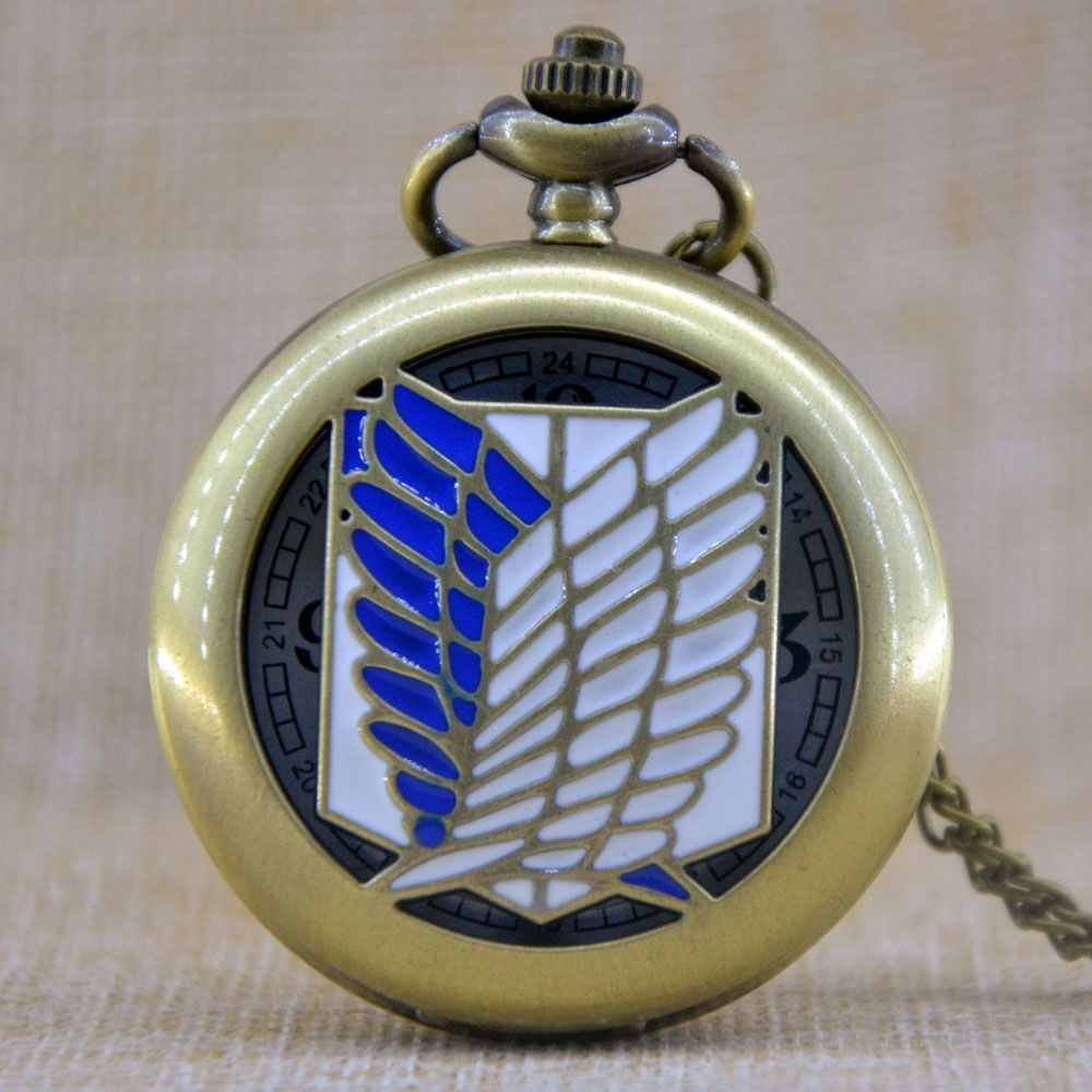 Attack On Titan Wings Of Liberty Pocket Watch for ONLY 999 with FREE Shipping