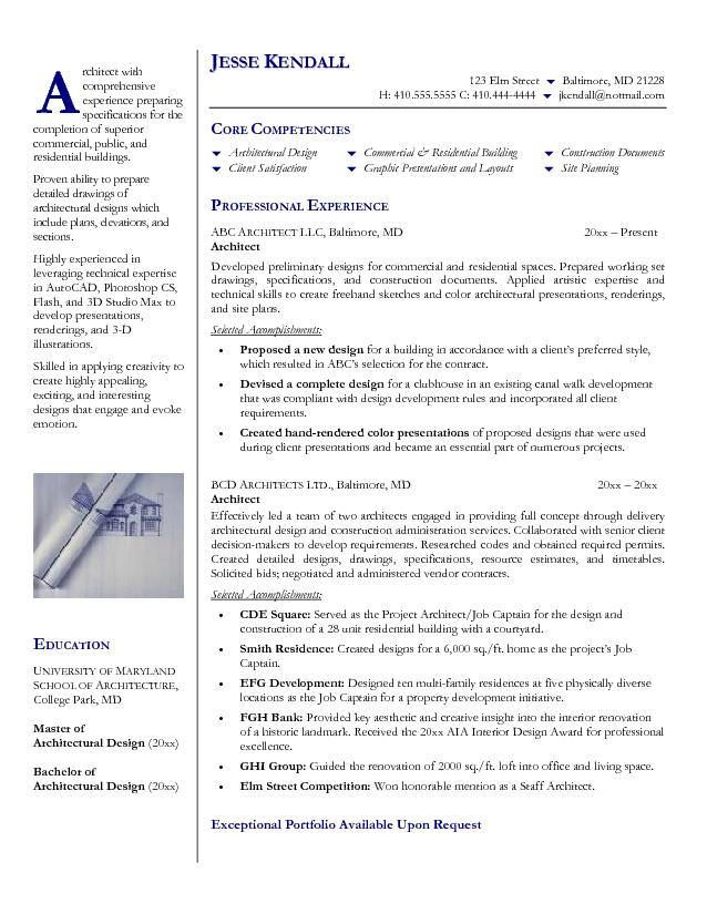 technical architect resume examples
