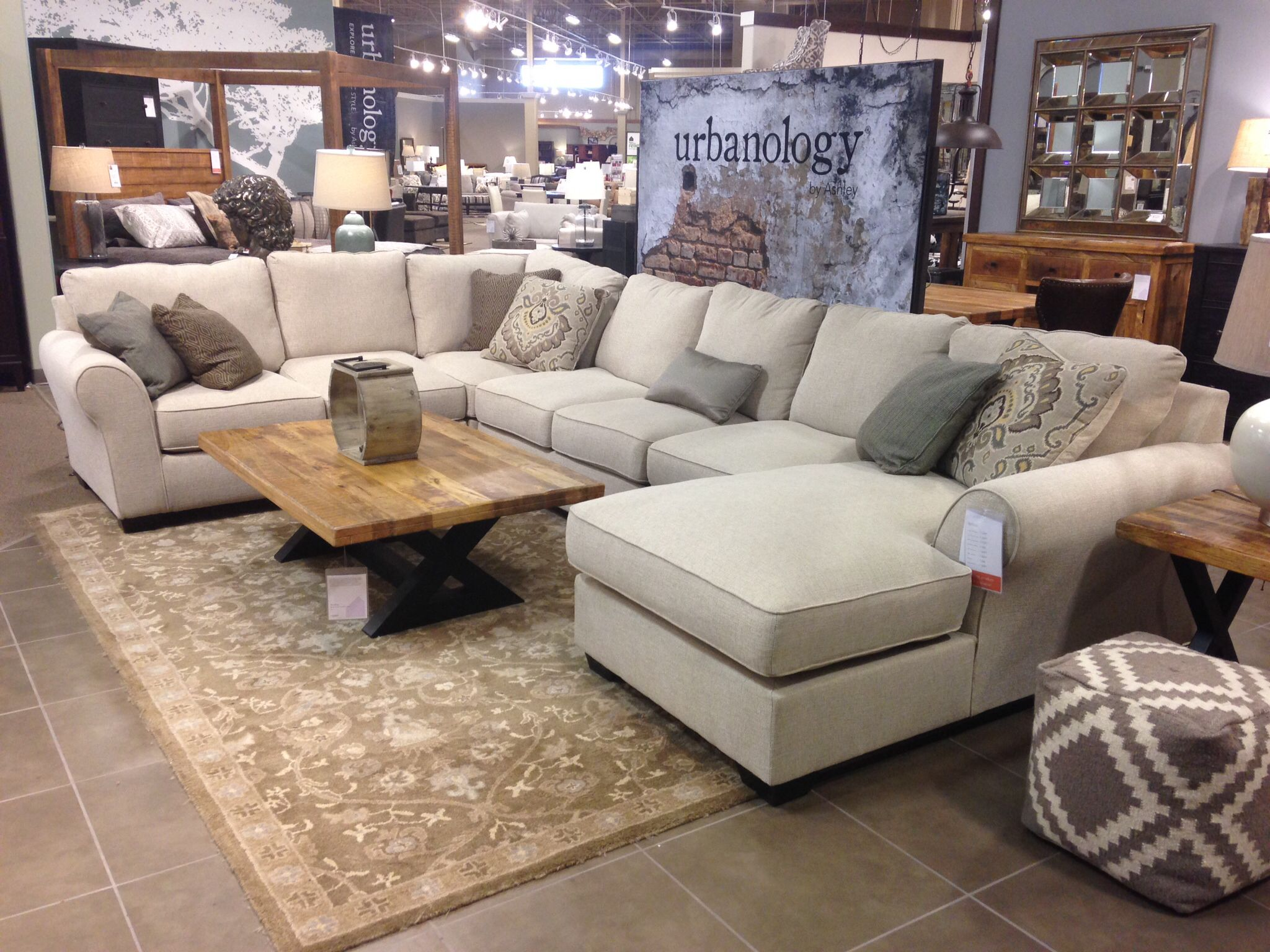 Ashley Furniture Urbanology Modern Rustic In 2019 Family Room