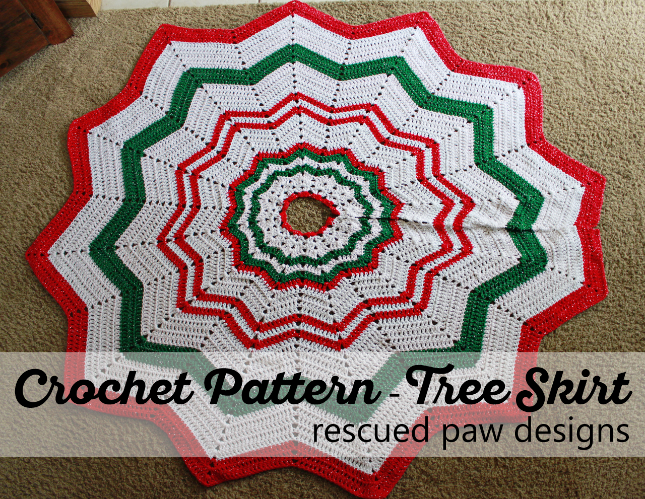 Nice Knit Tree Skirt Pattern Images - Sewing Pattern for Wedding ...