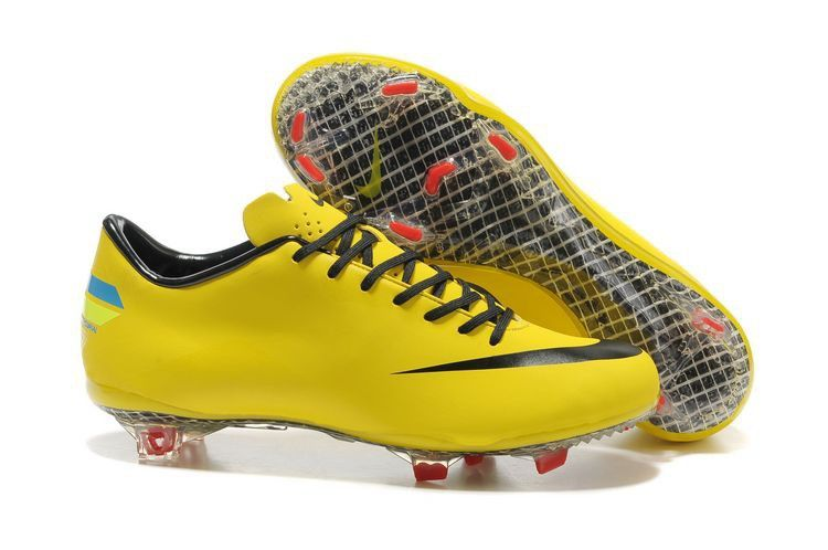 Nike Mercurial Vapor Superfly Fourth Style CR FG Cleats Yellow Black