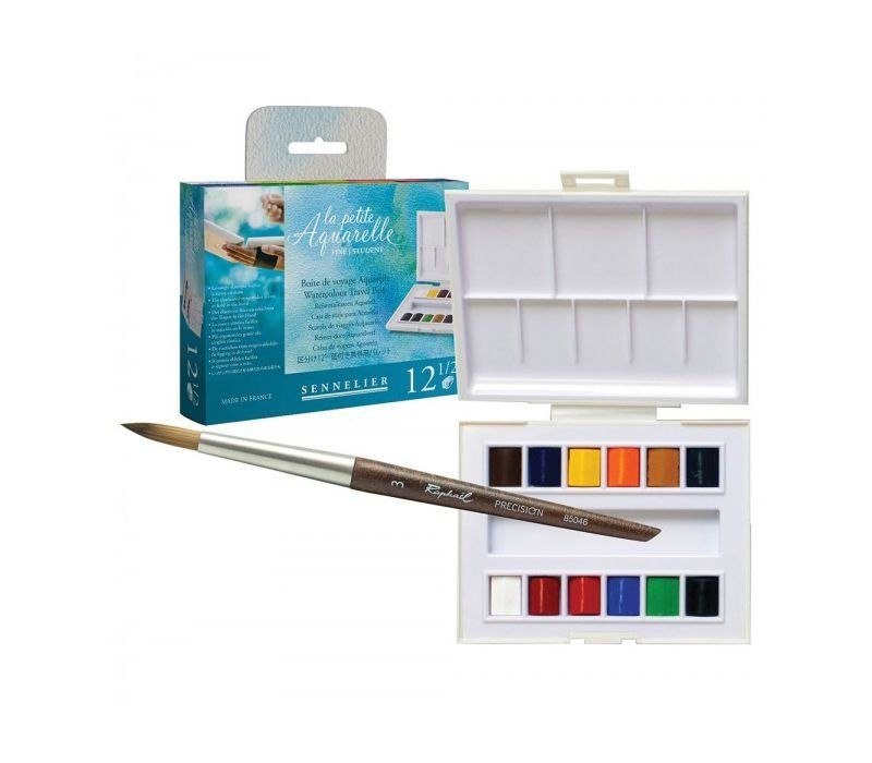 This Little Watercolor Set Features 12 Half Pans Of Gorgeous High