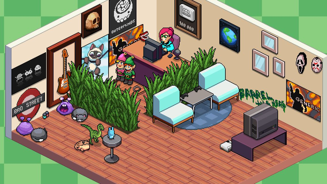 Tuber Simulator Room Ideas My room in PewDiePies Tuber Simulator