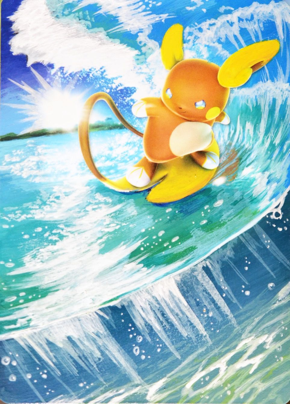 Cute Raichu Wallpaper Alolan Raichu Is So Cool And Cute Surfing On His Tail