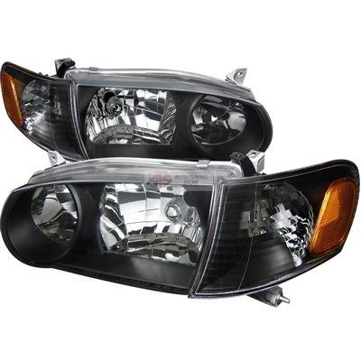 Spec D Euro Headlights Black 2lclh Cor01jm Dp Toyota Corolla 2001 2002 125 06