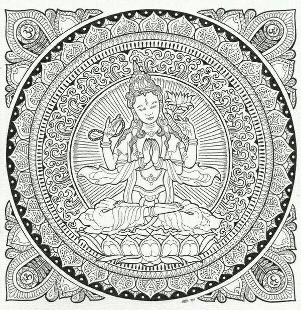 Pin de Juut Veldmuis en Mandala Art   Pinterest   Mandalas, Colorear ...