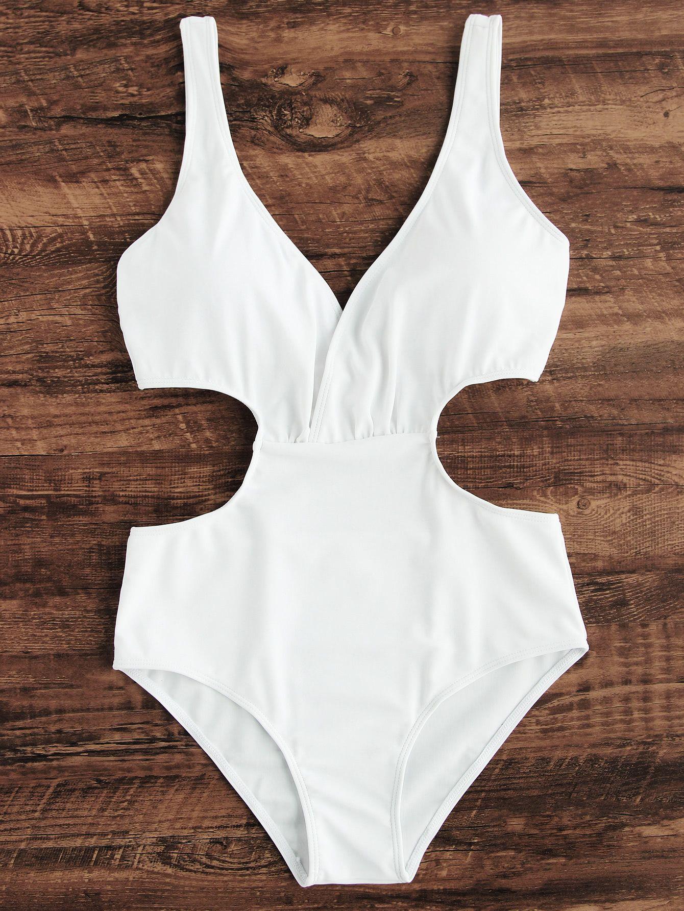 c6b0acde4d Side Cutout One Piece Swimsuit -SheIn(Sheinside) | birthday #28 in ...