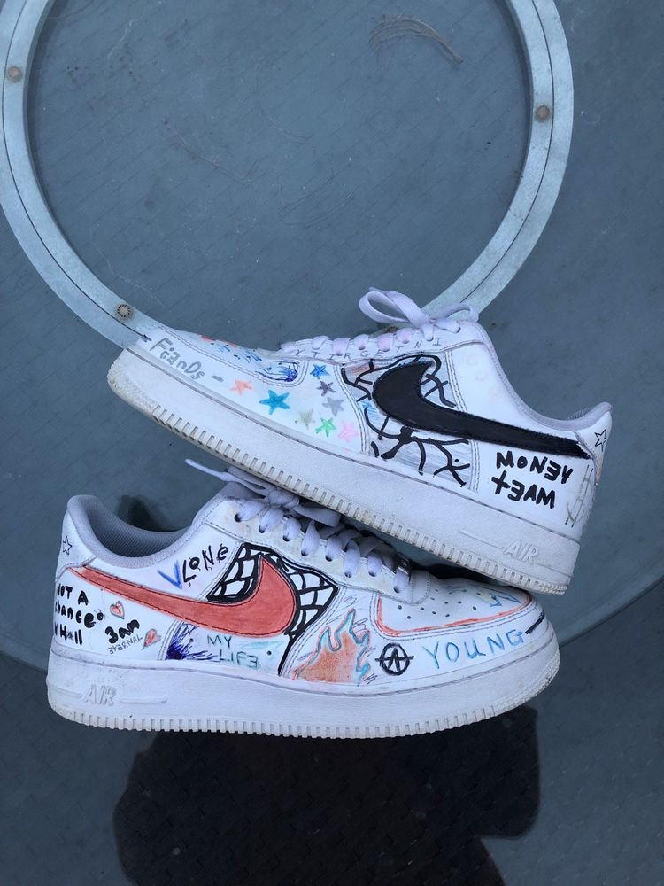 Nike Air Force 1 Custom Vlone #fashion #clothing #shoes