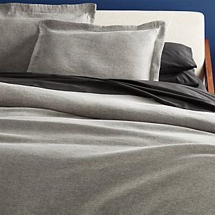 Photo of Weekendr Graphite Chambray Bedding | CB2