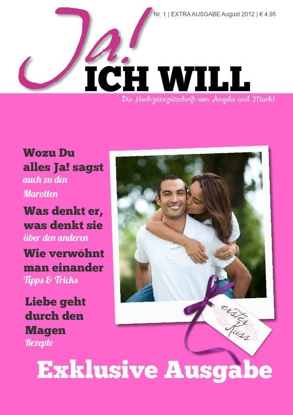 Hochzeitszeitung - Vorlage im Editor benutzen ...