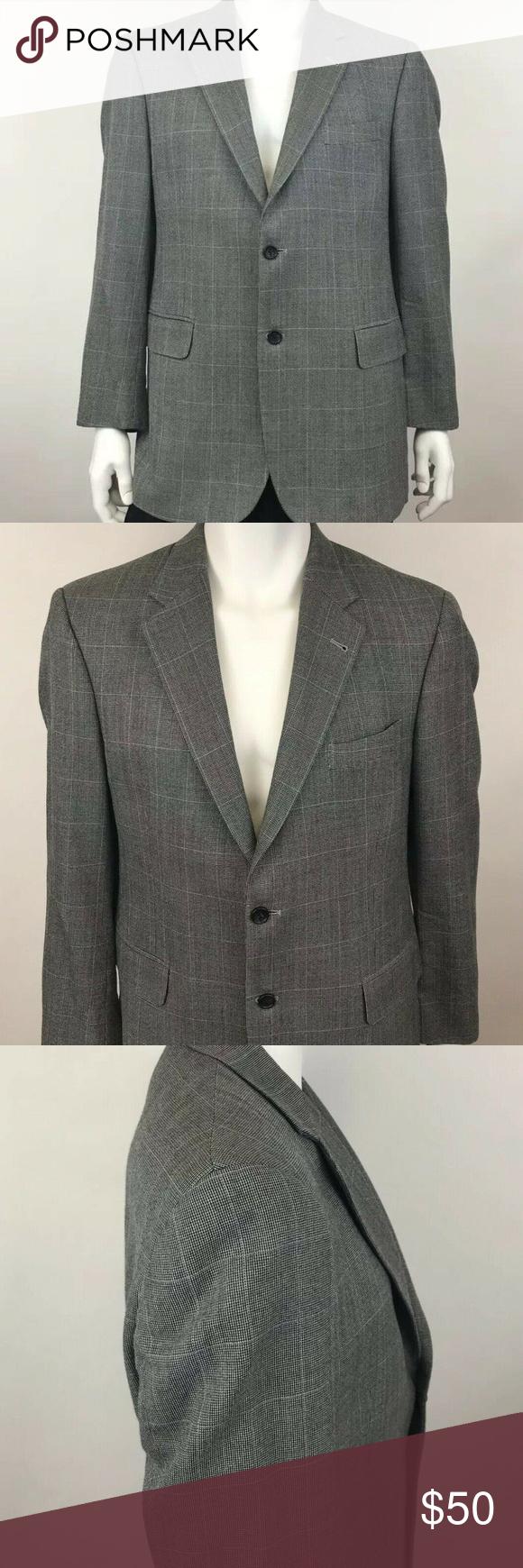 Jos A Bank Men's Silk Wool Sport Blazer Size 41R Jos A