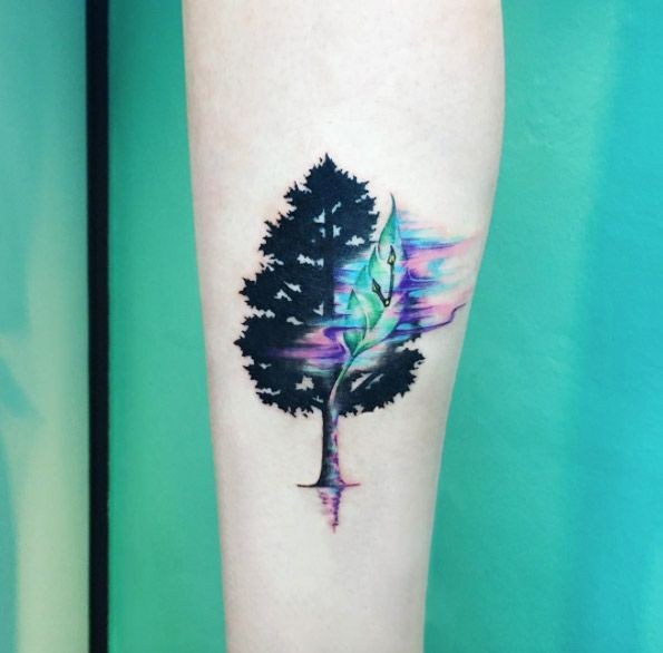 25 Awesome Watercolor Tree Tattoo Ideas Watercolor Tattoo Tree