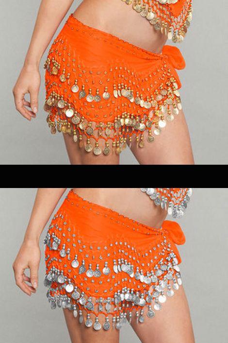 Orange Coin Hip Scarf 2057