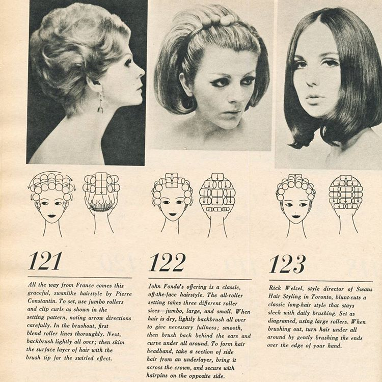 Vintage Hairstyle With Roller Setting Pattern Hair Roller Setting