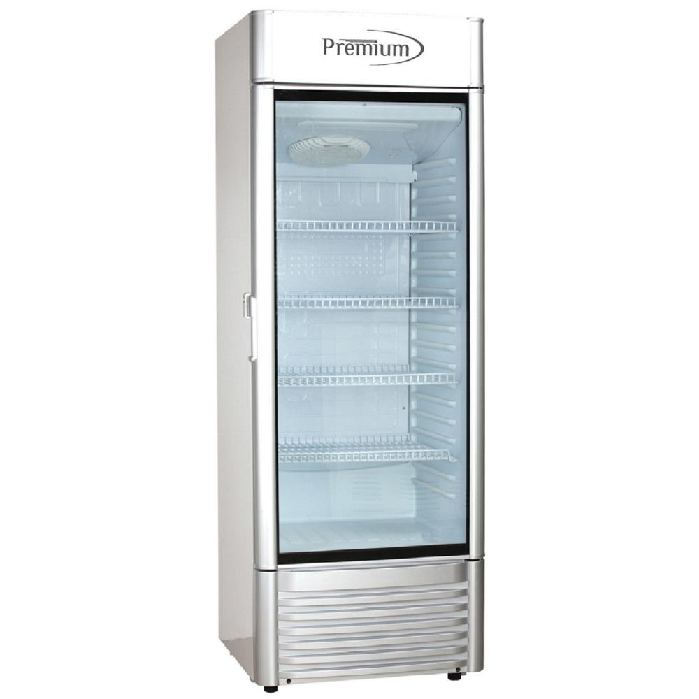 Premium 9 0 Cu Ft Single Door Commercial Refrigerator Beverage Cooler In Gray Prf90dx The Home Depot Commercial Refrigerators Single Doors All Refrigerator