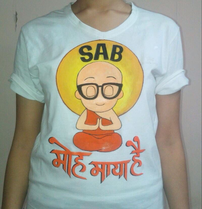ab97131ef Sab Moh Maya Hai Hand Painted T shirts graphics funny funky t shirt ...