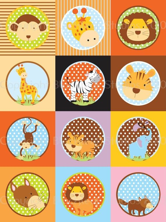 zoo animals collage sheet baby animals pictures printable baby showers party ideas wallpaper sweet laptop - Free Printable Animal Pictures