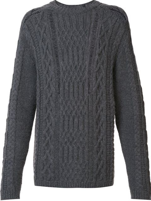 36f9f08d8a0c MAISON MARGIELA Distressed Cable Knit Jumper.  maisonmargiela  cloth  jumper