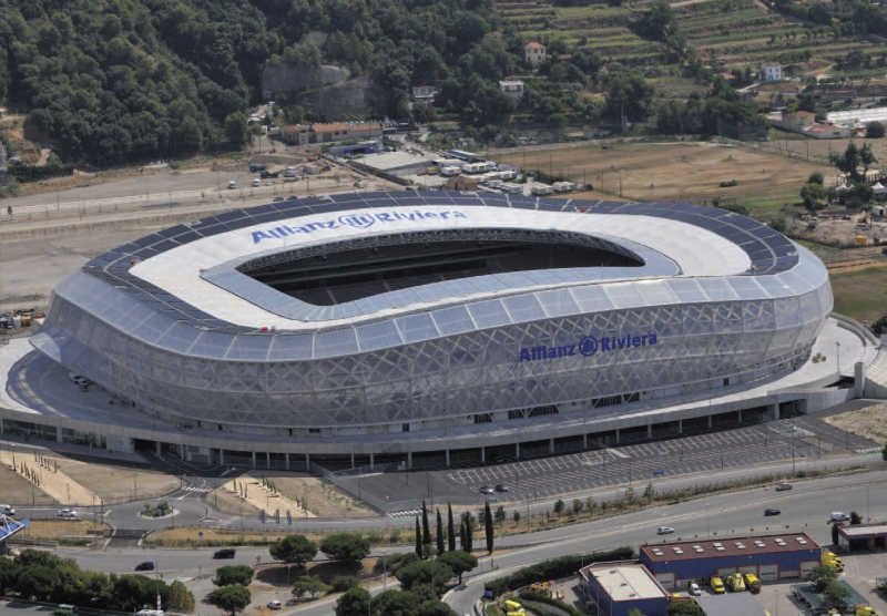 Allianz Riviera in Nice was opened in September 2013 (35624 seats)
