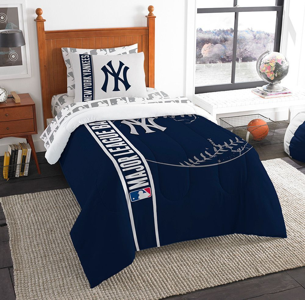 New York Yankees Mlb Twin Comforter Bed In A Bag Soft Cozy 64in X 86in Quartos