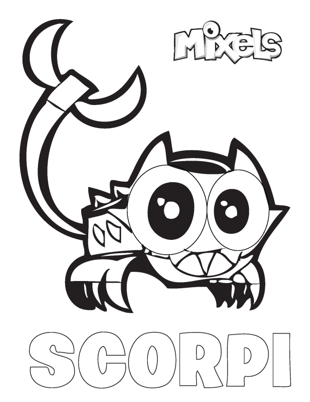 Mixels Coloring Page Scorpi Coloring Pages Lego Party Mario Characters