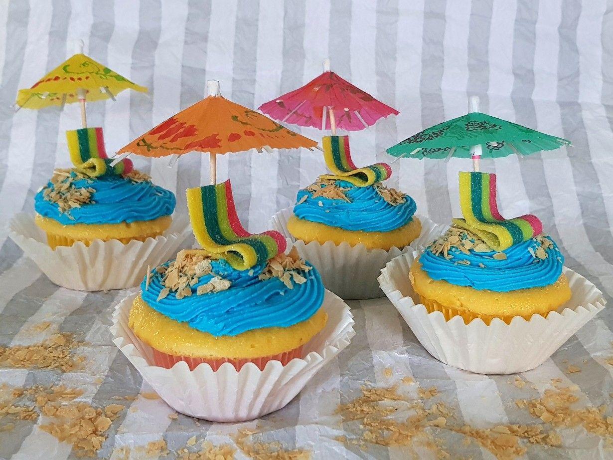 Beach Themed Cupcakes Beach Cakes Beach Birthday Cake Beach