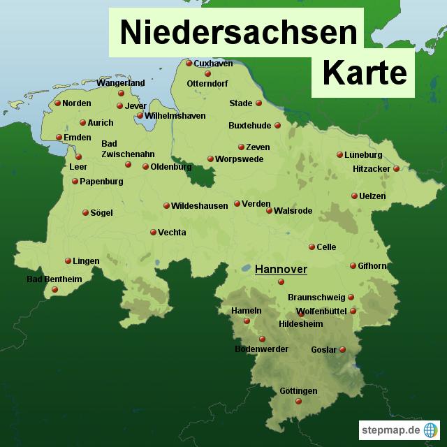 deutschland niedersachsen karte niedersachsen karte #karte #niedersachsen | Karte deutschland