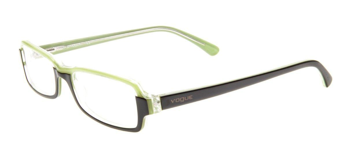 Ray Ban Vo2395 Retangular Armacao Preto E Verde Oculos De Grau