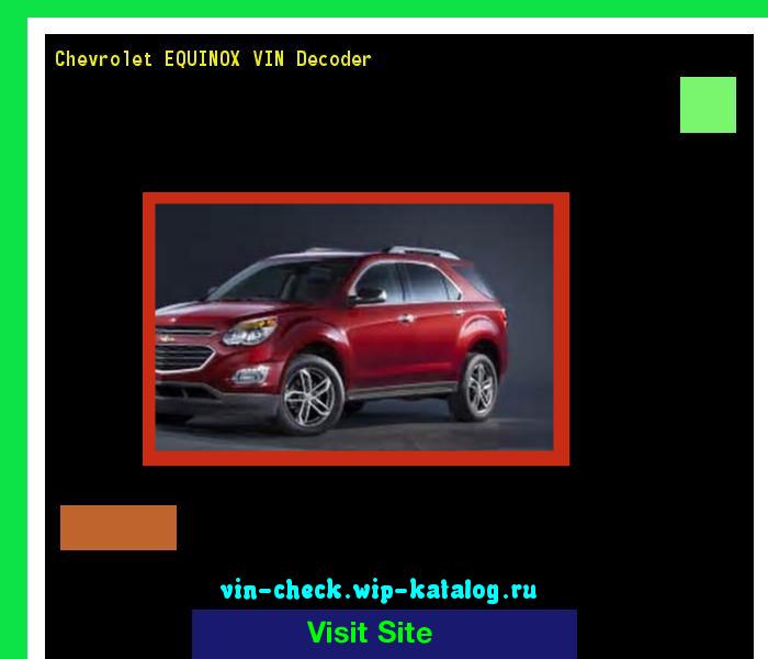 Chevrolet Equinox Vin Decoder Lookup Chevrolet Equinox Vin