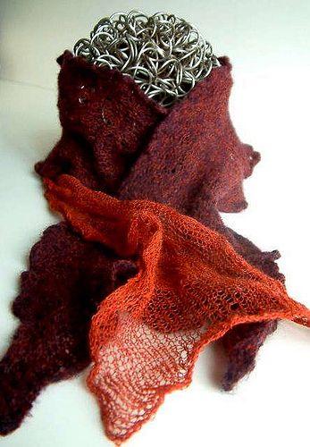 Kusha Kusha scarf pattern page by Setsuko Torii -- hundreds of ...